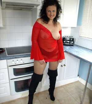 Boots and Milf stockings