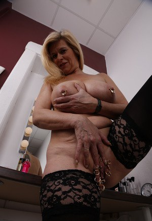 Mature marina enjoys getting fucked in all her holes