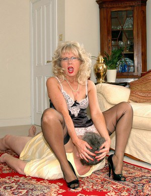 Granny Pussy  Mature Granny Pussy Plowed By Fresh Cocks